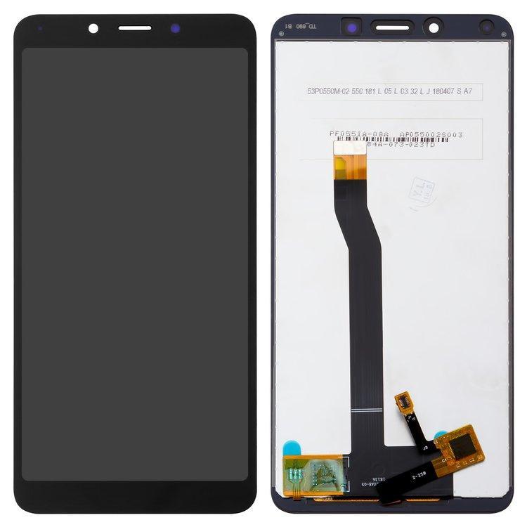 Дисплей (экран) для Xiaomi Redmi 6 с сенсором (тачскрином) черный Оригинал