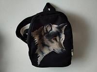 Рюкзачек пошитый под вышивку Волк