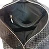 """Рюкзак жіночий """"Паріс"""" натуральна шкіра, чорний, з тисненням венето, фото 5"""
