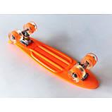 Скейт Penny Board, с широкими светящимися колесами Пенни борд, детский , от 4 лет, Цвет Оранжевый, фото 3
