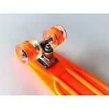 Скейт Penny Board, с широкими светящимися колесами Пенни борд, детский , от 4 лет, Цвет Оранжевый, фото 5