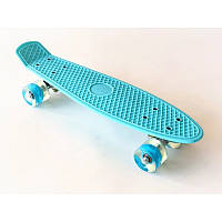 "Скейт Пенни борд. Penny Board 22 ""Pastel Series"", скейт детский, Бирюзовый цвет"