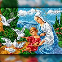 Алмазная вышивка мозаика The Wortex Diamonds Религия 11 30x40 TWD60011 полная зашивка квадратные стразы. Набор, фото 1