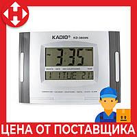 Распродажа! Цифровые часы Kadio (KD-3809N), Серые, настольные часы электронные, часы будильник, фото 1