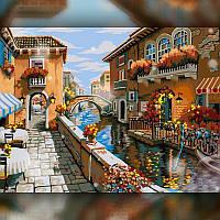 Алмазная вышивка мозаика The Wortex Diamonds Уличка Венеции 30x40см TWD30016 полная зашивка квадратные стразы., фото 1