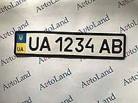 Рамка номерного знака Premius силиконовая черная 1 шт
