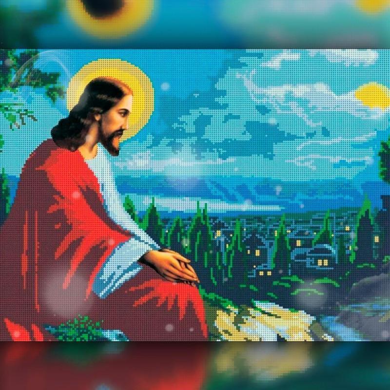 Алмазна вишивка мозаїка The Wortex Diamonds Релігія 16 30x40 TWD60016 повна зашивка квадратні стрази