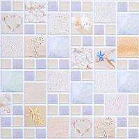 Стеновые декоративные пластиковые панели ПВХ Грейс (Grace) - мозаика ЛАГУНА ПЕСЧАНАЯ (955x480) мм ЛОФТ/LOFT