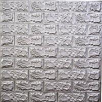 Самоклеющаяся декоративная 3D панель Кирпич СЕРЫЙ Лофт/LOFT 770*700 мм