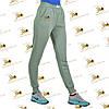Спортивные утепленные штанишки трехнитка на флисе цвет полыни, фото 2