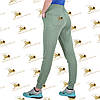 Спортивные утепленные штанишки трехнитка на флисе цвет полыни, фото 3