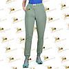 Спортивные утепленные штанишки трехнитка на флисе цвет полыни, фото 4