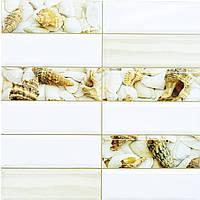 Пластиковая Декоративная Панель ПВХ плитка ПЕСЧАНЫЙ БЕРЕГ (955X480) мм