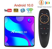 Смарт ТВ приставка X88 Pro 4gb/32gb Ultra HD SmartTV Андроид Android TV box + пульт Air Mouse G20