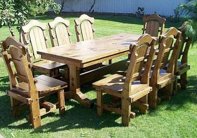 Комплект обеденный Картес стол деревянный+стулья 6 шт