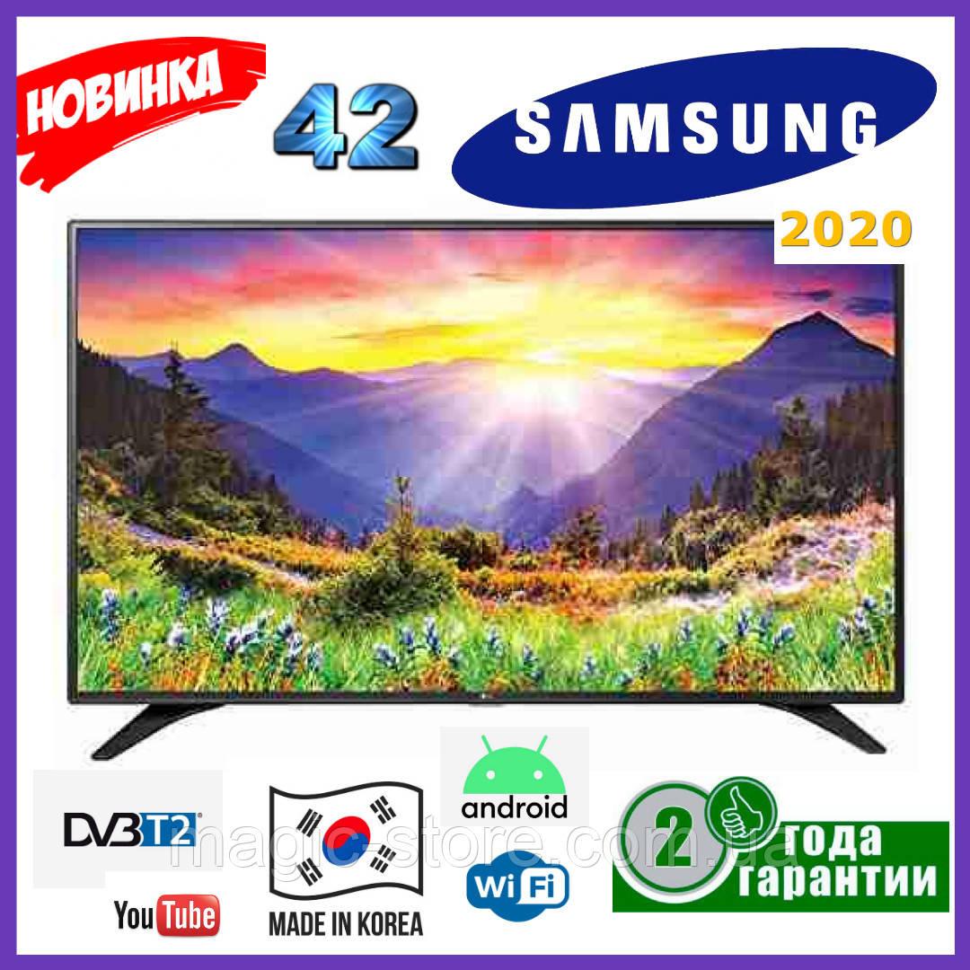 Телевізор Samsung 42 Smart tv UHD 4K Android 9.0 WIFI T2 Смарт тв Самсунг Гарантія Новинка 2020