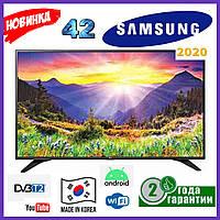 Телевизор Samsung  42 Smart tv UHD 4K Android 9.0  WIFI T2 Смарт тв Самсунг Гарантия Новинка 2020