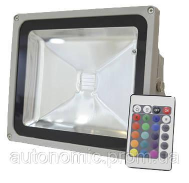Светодиодный прожектор LEDEX 20W RGB, 120º, IP65, (RGB714)