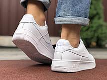 Чоловічі кросівки Nike Air Force білі, фото 3