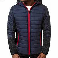 Мужская куртка (весна\осень) синяя с красным