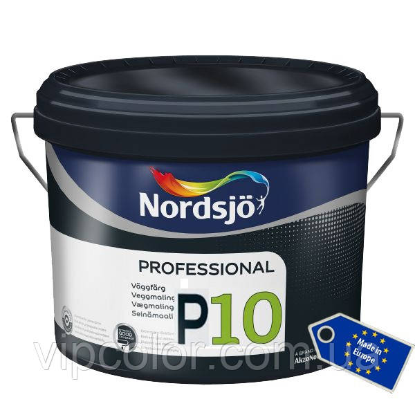 Краска Sadolin PROFESSIONAL P10 -износостойкая краска для стен,  белый BW, 10 л.
