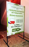 Рекламный баннер напольный Metalframe (NS-970001277), вис-1000мм, шир-500мм, довж-700мм,