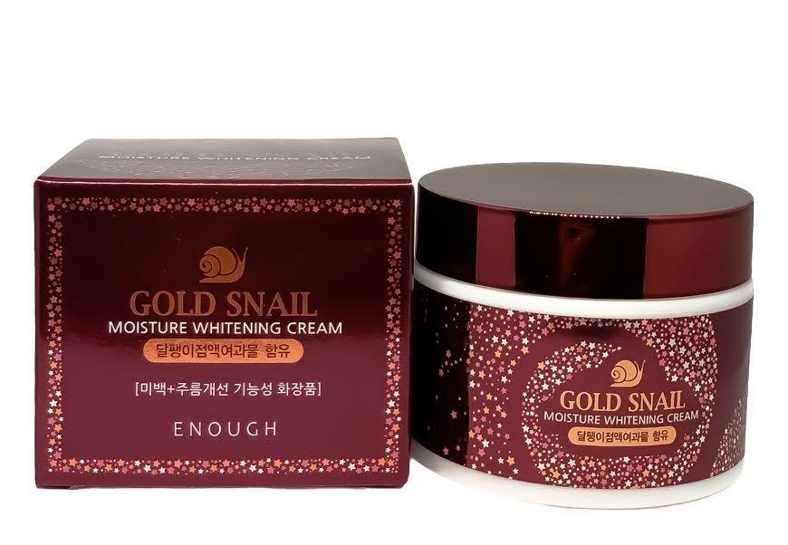 Крем для лица с муцином золотой улитки Enough Gold Snail Moisture Whitening cream