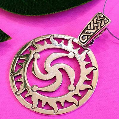 Срібний амулет Символ Роду - Слов'янський оберіг - Срібний кулон Символ роду