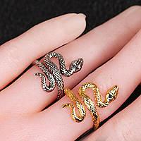 Кольцо змея Стильное украшение  Аксессуар к карнавальному костюму на Хэллоуин, фото 1
