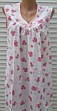Ночная рубашка без рукава 58 размер Розовые букеты, фото 5