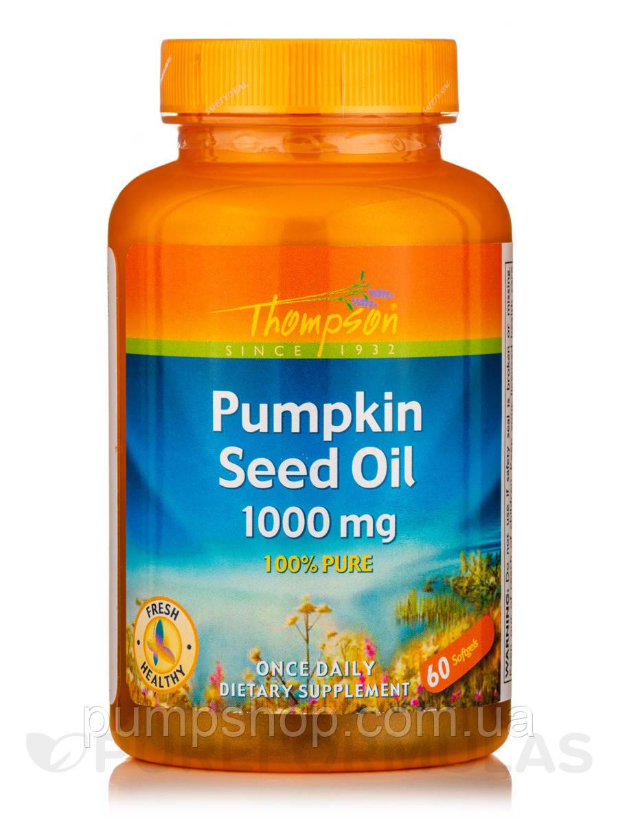 Олія насіння гарбуза Thompson Pumpkin Seed Oil 1000 мг 60 капс.