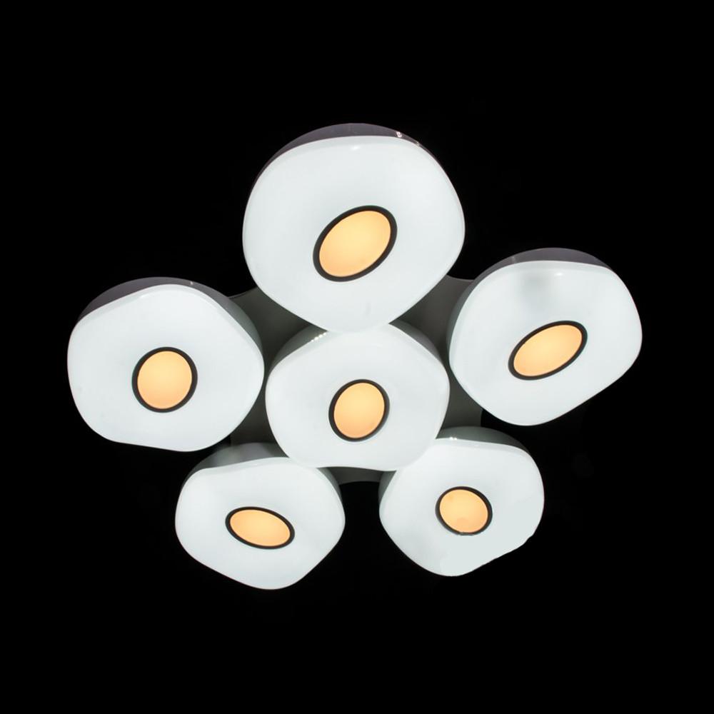 Потолочная светодиодная люстра для зала 25 кв.м в белом цвете 180W Диаша&9034/5