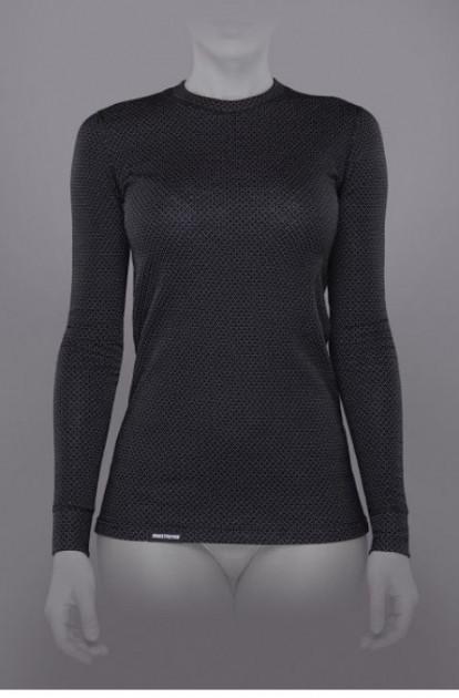 Женская футболка TRUL-014T-black-L Soft Winter с длинным рукавом Black