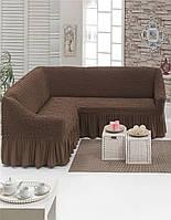 Натяжной чехол на угловой диван/Чехол на диван универсальный Турция