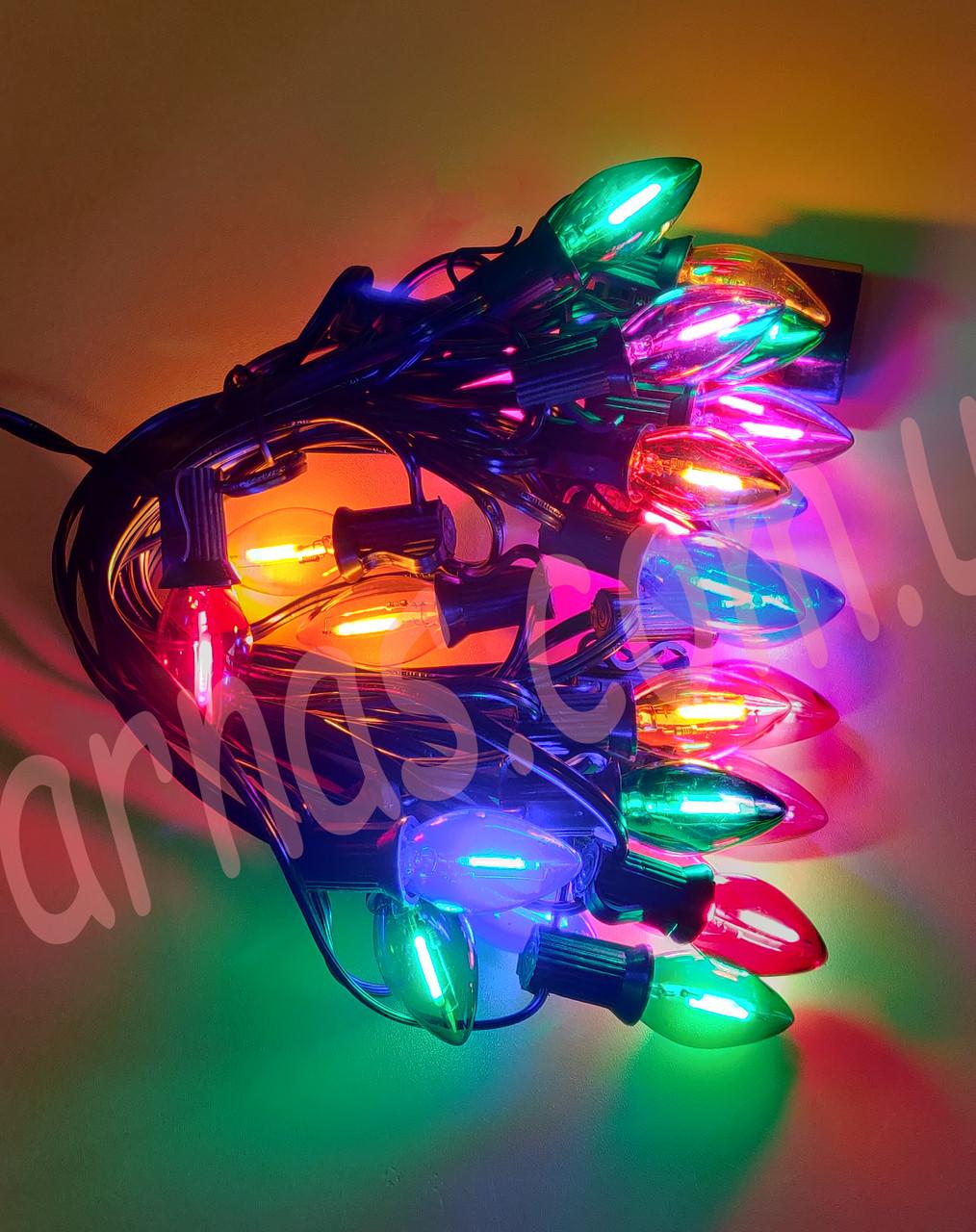 Светодиодная гирлянда-лампочка RGB (12-1)