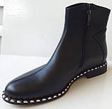 Ботинки демисезонные из натуральной кожи большого размера от производителя модель АР272-3, фото 3