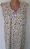 Ночная рубашка без рукава 60 размер Лето, фото 3
