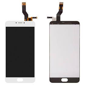 Дисплей (экран) для Meizu M3 Note (L681H) с сенсором (тачскрином) белый Оригинал