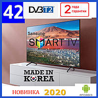 ТелевизорSamsung 42 дюйма Android 9.0 LЕD, Smart TV, IPTV, Wi-Fi, ULTRA HD, T2 Самсунг Смарт тв 2020 года