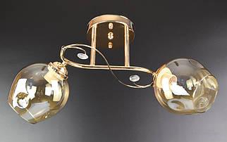 Люстра стельова на 2 лампочки (23х48х18 див.) Хром або золото YR-2299/2B-gd