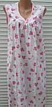 Ночная рубашка без рукава 62 размер Розовые букеты, фото 2