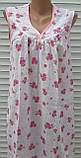 Ночная рубашка без рукава 62 размер Розовые букеты, фото 5