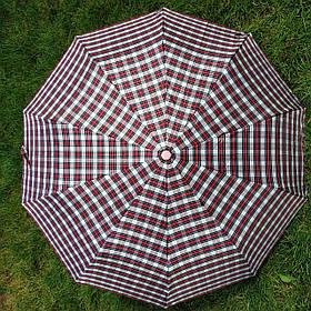 Зонт женский Красный/бежевый клеточка арт.150-5