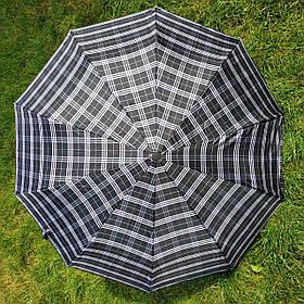 Зонт женский Черно-бежевая клеточка арт.150-6