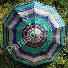 Зонт женский Зеленый/Синий клеточка арт.150-7