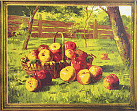 """Картина по номерам """"Яблоки в саду """" живопись,картины по цифрам,раскраска, размер 40х50 см"""
