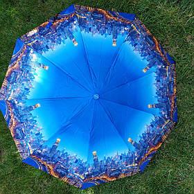 Зонт жіночий з малюнком Міста арт 485-12