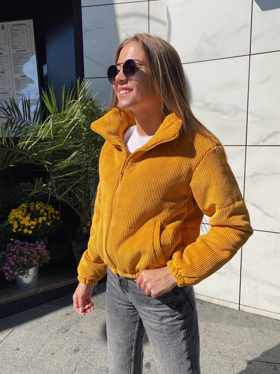 Куртка женская вельветовая демисезонная 13-330