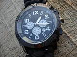 Часы водонепроницаемые армейские MIL-TEC ARMY UHR PARACORD Black (15774002-905) XL, фото 8