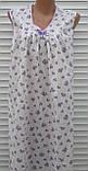 Ночная рубашка без рукава 64 размер Сиреневые розочки, фото 2